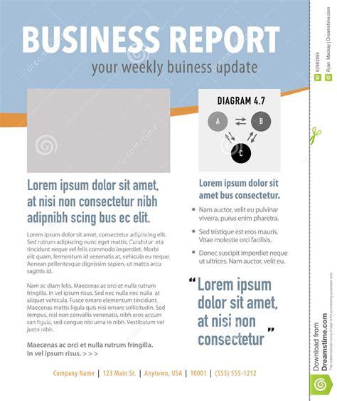 Newsletter Report Newsletter Stock Illustration Image 62983995