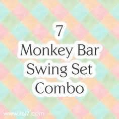 monkey bar swing combo monkey bar swing set on pinterest swing sets wooden