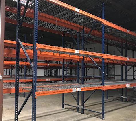 Teardrop Racking by Used Teardrop Pallet Rack 42 Quot X 14 X 108 144 Quot