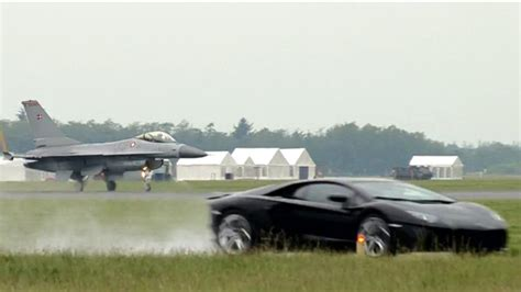 lamborghini jet engine f16 jet vs lambo aventador top gear