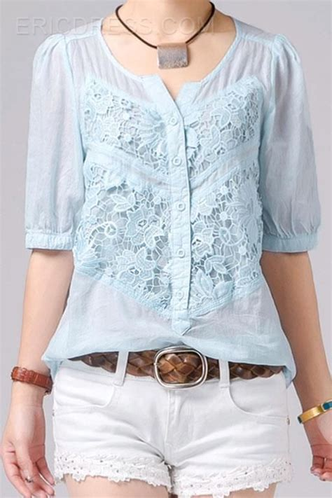 Pastel Blouse Moura Casual casual lace cotton blouses the pastel colour beautiful lace lace the o