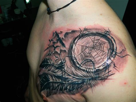 tattoo meaning in dreams 37 graceful dream catcher shoulder tattoos