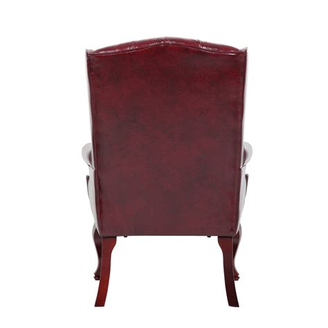 wingback traditional chair burgundy wingback traditional guest chair in burgundy