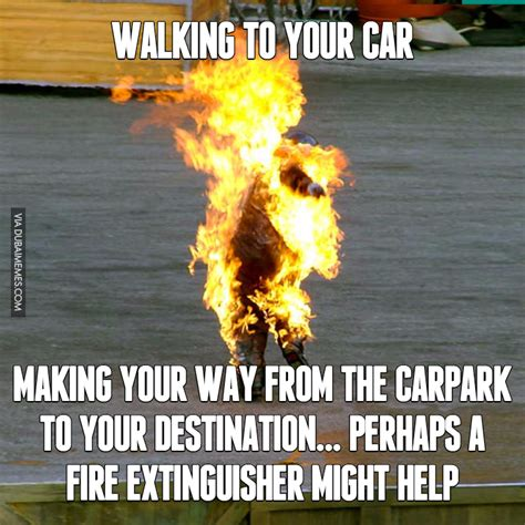 Dubai Memes - walking to your car in dubai during the summer image