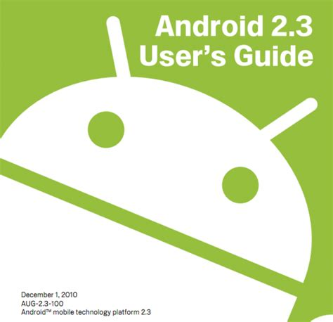 android user android 2 3 user guide now for your viewing pleasure shows new calendar