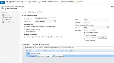 dynamics crm workflow exles dynamics crm workflow templates