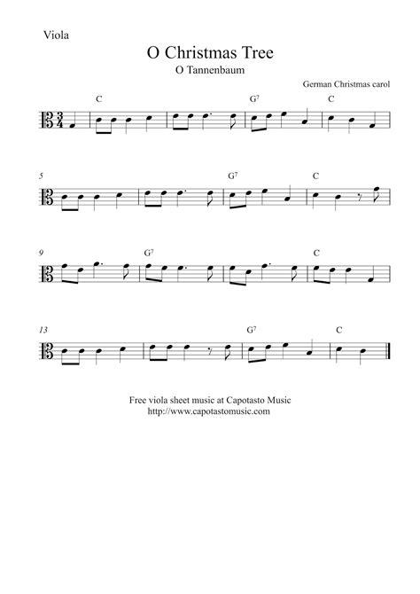 free printable sheet music viola o christmas tree o tannenbaum free easy christmas