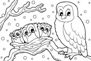 winter coloring pages snowy owl coloringstar of pictures