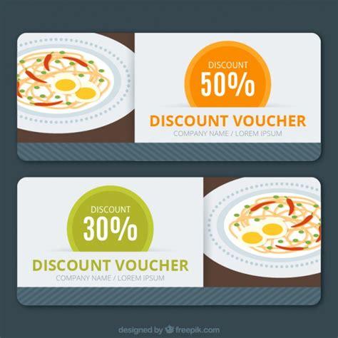 printable vouchers restaurants restaurant discount vouchers vector free download