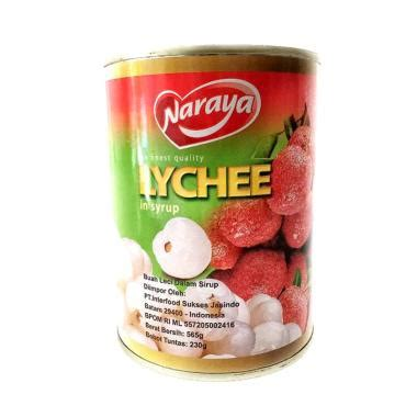 Wilmond Lychee In Syrup Canned Minuman Buah Leci Kaleng jual naraya lychee in syrup canned minuman buah leci kaleng 565 g harga kualitas