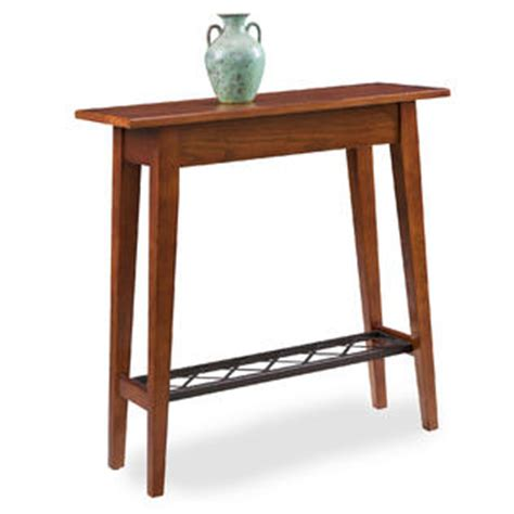 Leick Mission Foyer Russet Hall Table Home Furniture Mission Style Oak Foyer Furniture