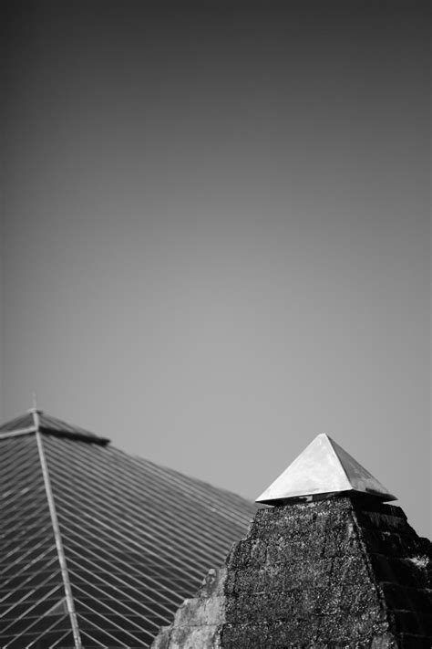 Piramid White by Pyramid In Black And White Photo Free