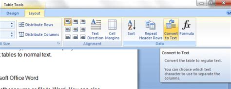 how to quickly convert tables to text in word tip