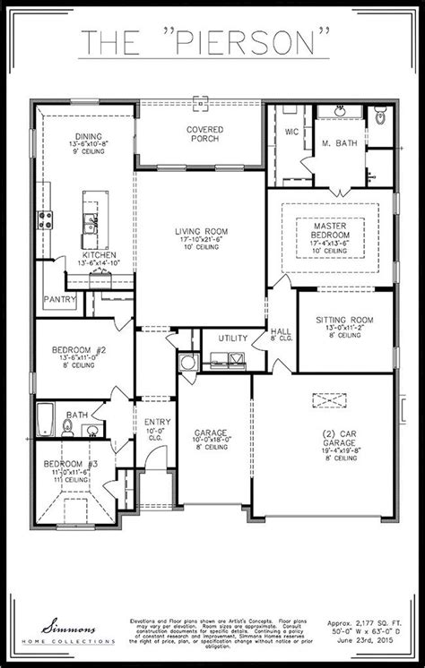 simmons homes floor plans pierson tulsa home builders simmons homes