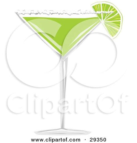 chagne glass cartoon margaritas clip art
