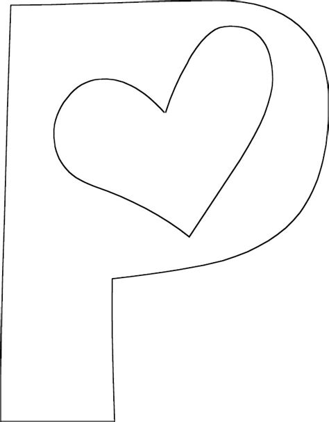 coloring book for a p letter p coloring page