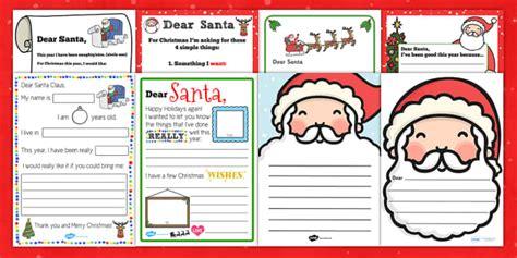 letter writing santa claus resource pack teacher