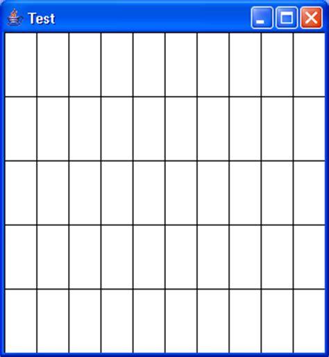 program to draw grids : paint « 2d graphics gui « java