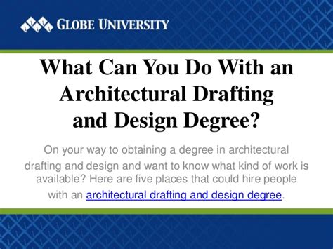 What Can U Do With An Mba Degree by What Can You Do With An Architectural Drafting And Design