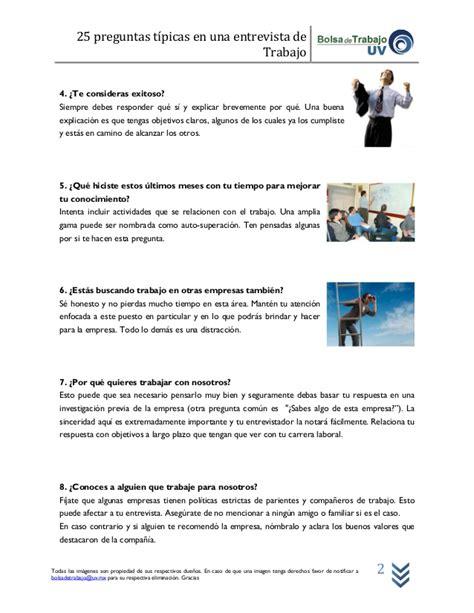 preguntas tipicas de una entrevista 25 preguntas tipicas entrevista