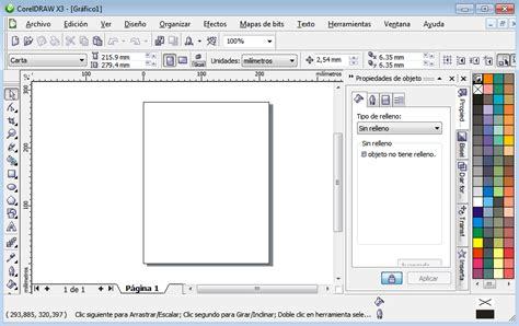 corel draw x5 y sus partes entorno de la ventana graficando ideas