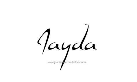 jayda name tattoo designs