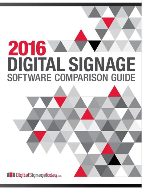digital comparisons 2016 digital signage software comparison guide