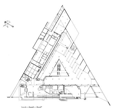 triangle floor plan the archaeological museum of arles henri ciriani