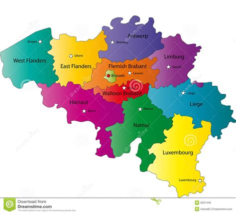 belgium regions map belgium regions map