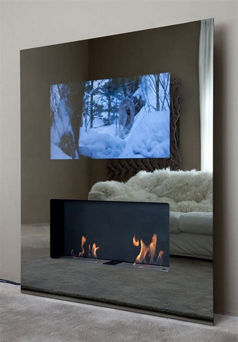 Fireplace Lcd by Vision Fireplace By Safretti Features A Lcd Tv As Well