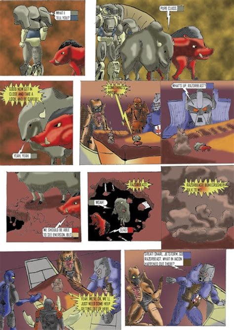 best wars comics mathurin beast wars comic pt 2
