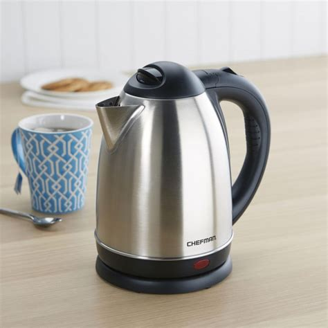 Kettle Kitchen by Chefman Cordless Jug Kettle Stainless Steel Kitchen
