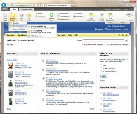intranet portal design templates bitrix intranet portal