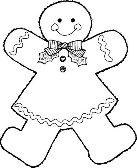 Gingerbread Free Colouring Pages Gingerbread Coloring Page