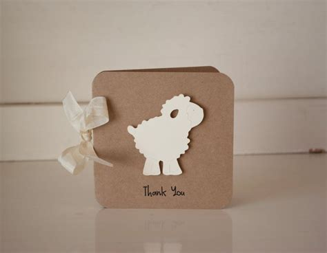 Handmade Baby Shower Thank You Cards - best 25 baptism thank you cards ideas on