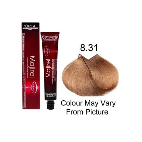 l or 233 al professionnel majirel cool cover coverage 50ml loreal majirel l oreal professional majirel 8 31 wbb permanent hair