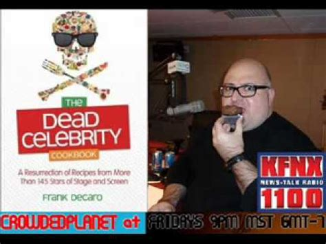 frank decaro's dead celebrity cookbook crowded planet