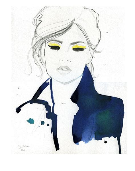 fashion illustration gouache watercolor fashion illustration pretty parisian print