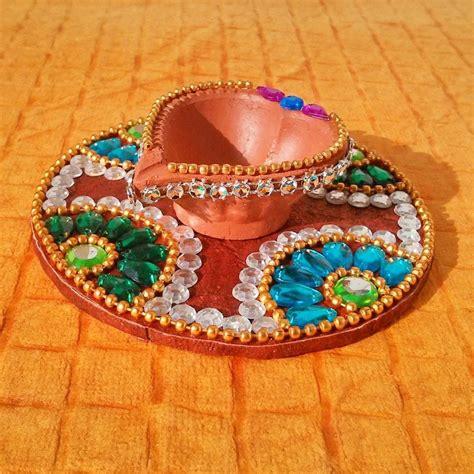 decorative diya kundan diya plate decorative diya ganesha navaratri