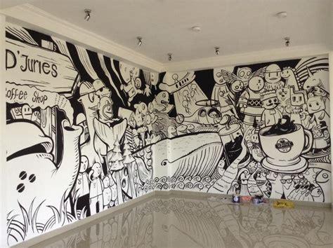 djuries coffee shop  doodle art designs mural cafe