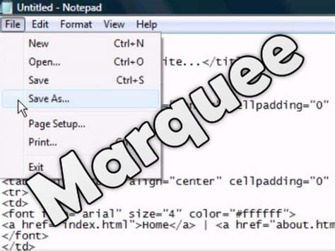 tutorial html marquee marquee videolike