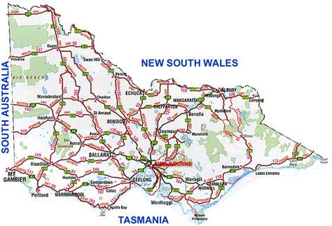 printable maps victoria road map victoria australia australia