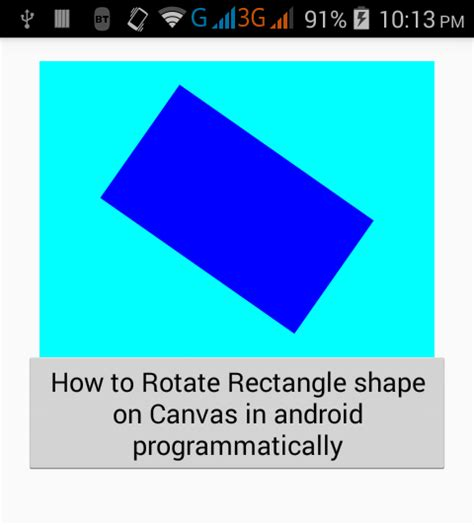 how to rotate a on android rotate rectangle shape on canvas in android programmatically android exles