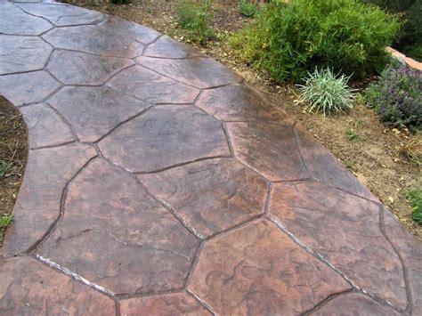 Flagstone Entryway patterns decorative concrete san luis obispo ca