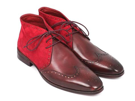 Handmade Chukka Boots - handmade chukka boots bordeaux suede leather