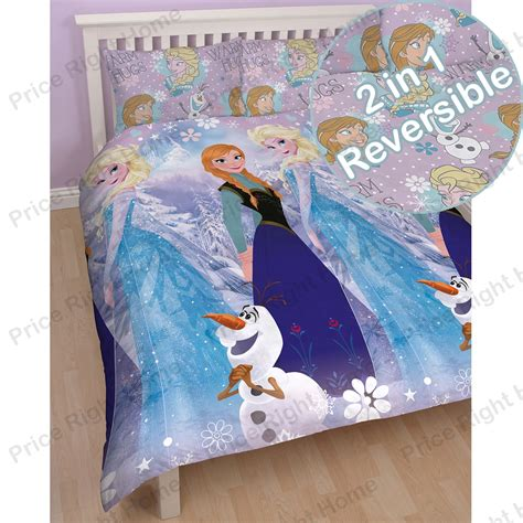 elsa bedding disney frozen duvet quilt covers bedding anna elsa olaf ebay