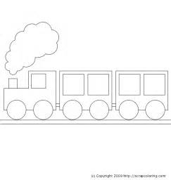 train colouring pages