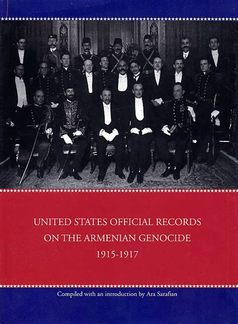 United States Records United States Official Records On The Armenian Genocide 1915 1917 History Books