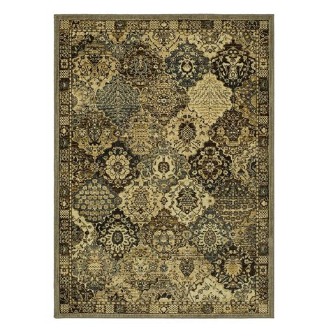 Patchwork Area Rugs - mohawk home patchwork medallion grey 5 ft x 7 ft area
