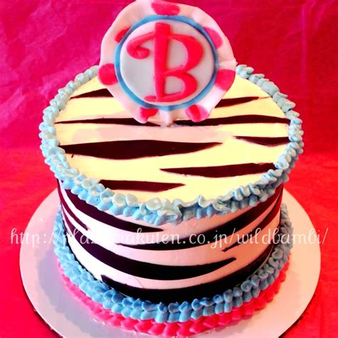 zebra pattern birthday cake zebra print mini birthday cakes cakecentral com